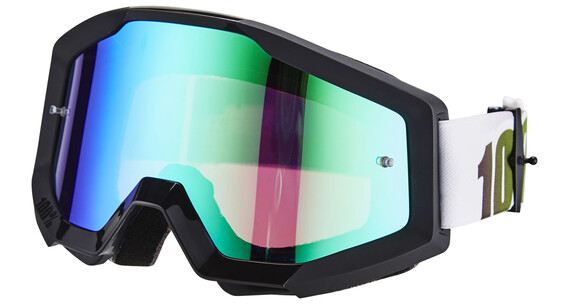 100% The Strata Goggle black-lime/anti fog mirror